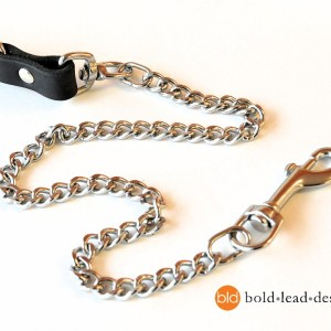 chain 3813 - Chain and Brahma 8-Way Lead™ - chew resistant Multi-Functional vegan dog leash