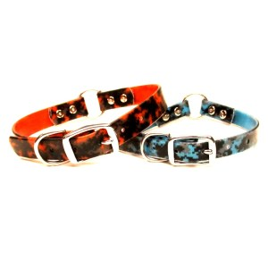Hunting Collar center o ring camo brahma - NEW! Hunting Dog Collar in stink-free Neon Camo Brahma