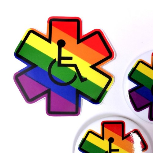 Disability Pride Buttons and Stickers