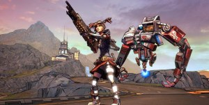 Gaige, the Mechromancer and her companion Deathtrap