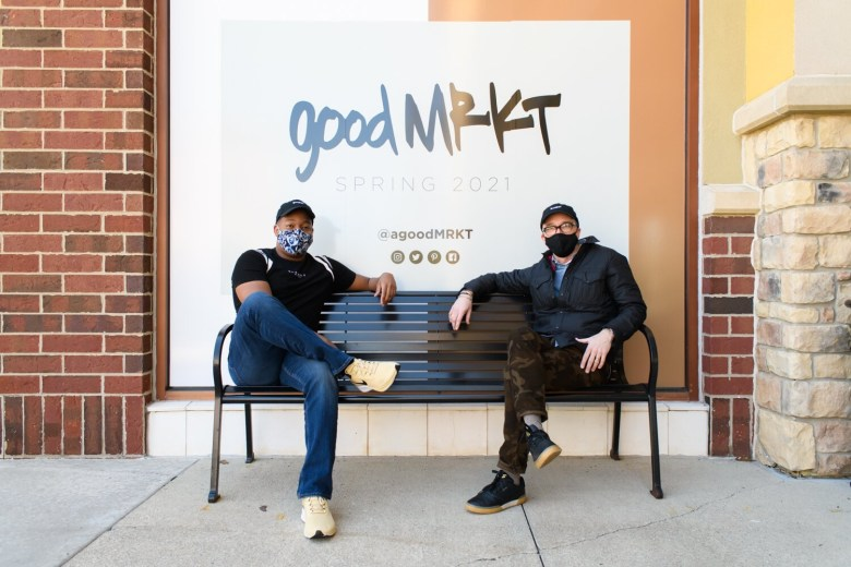 Josh Raines and Harry Cunningham at goodMRKT in Fort Wayne, Indiana.