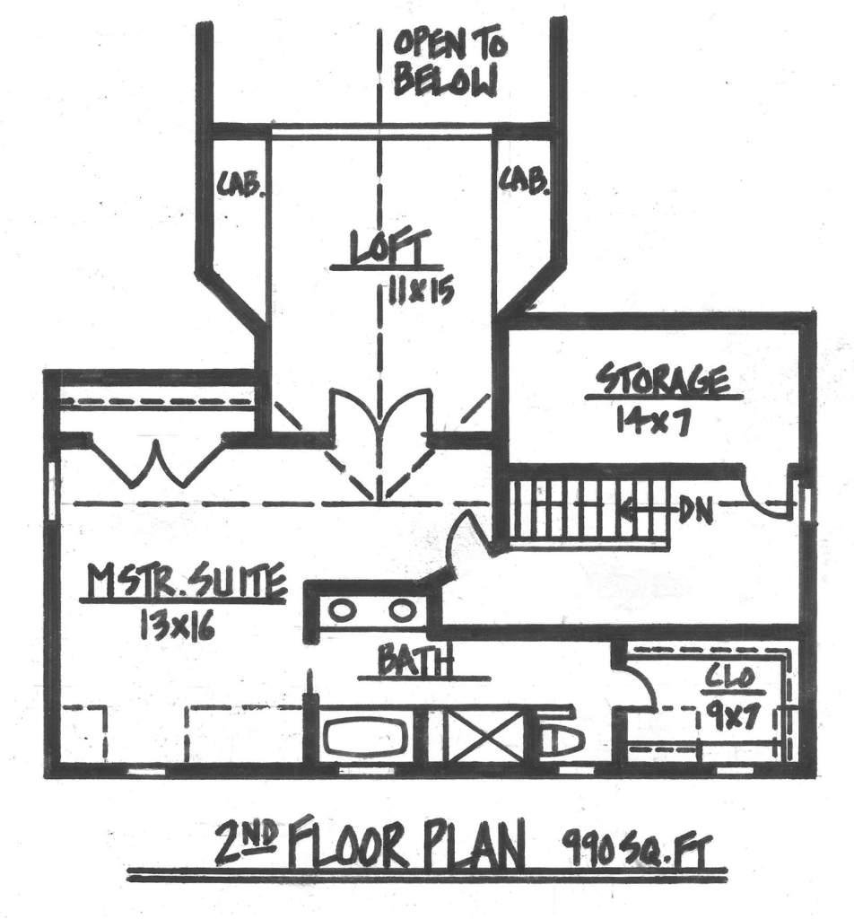 Mount Curve Second Floor Addition Floorplan