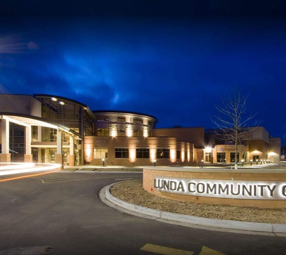 Lunda Community Center night