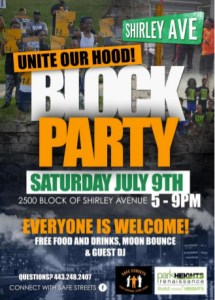 park heights renaissance unite our hood block party
