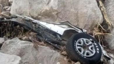 Photo of صخرة تحطم سيارة وتقتل 4 شباب سعوديين بداخلها