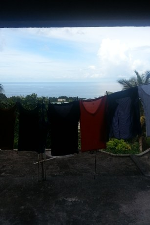 Nothing like some freshly hung-dried clothes on top of your apt roof. I love it!