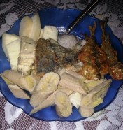 fried fish and ground provisions