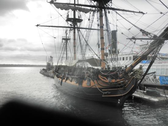 HMS Surprise docked in the San Diego Maritime Museum