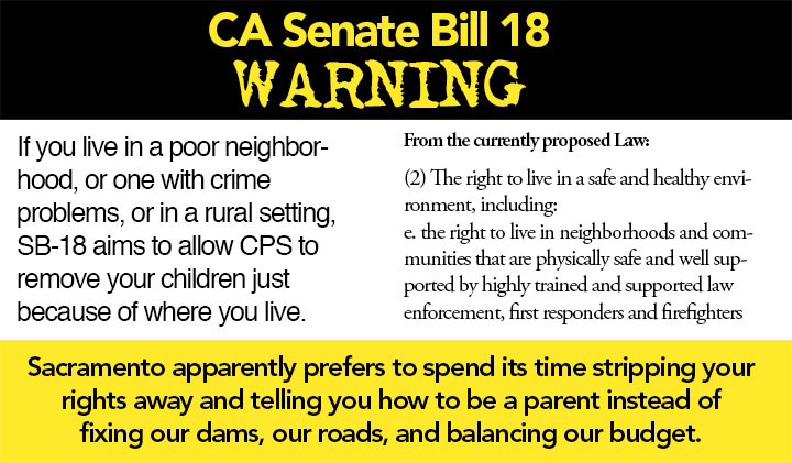 California SB 18 War – Hillary's Attempt to Seize California's Children…