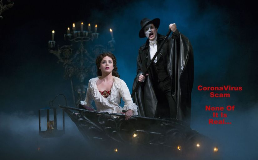 """The Phantom of the Opera-tion… The """"operation"""" is to scare people into  running away from nothing; to get them to destroy all social bonding for  fear of nothing…"""