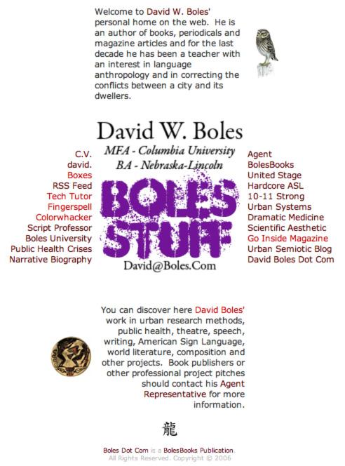 Boles Wayback Machine!
