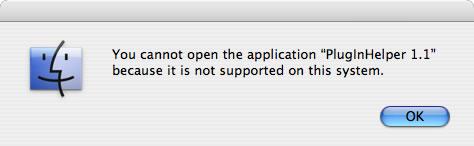 QuickTime PlugInHelper Won't Run on Intel Macs!