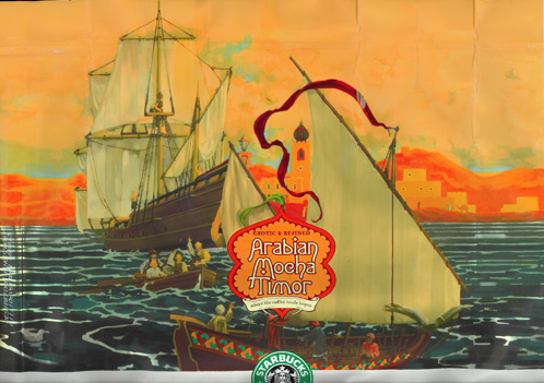 Starbucks Arabian Mocha Timor Bag Art