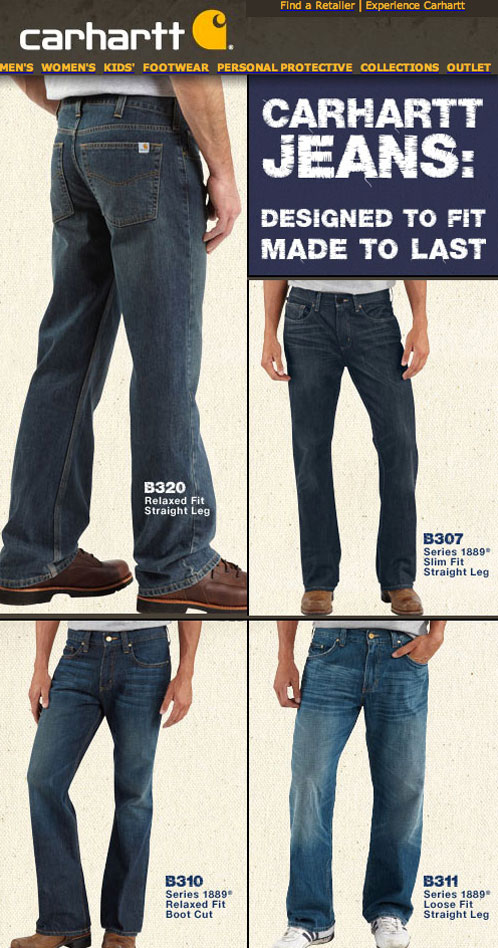 Carhartt relaxed fit bootcut jeans