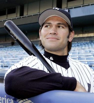 Johnny Damon as a Yankee!