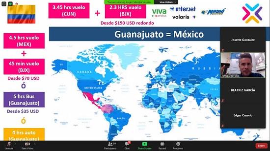 SECTUR presenta oferta turística de Guanajuato a 101 agentes de viajes de Price Travel en Colombia