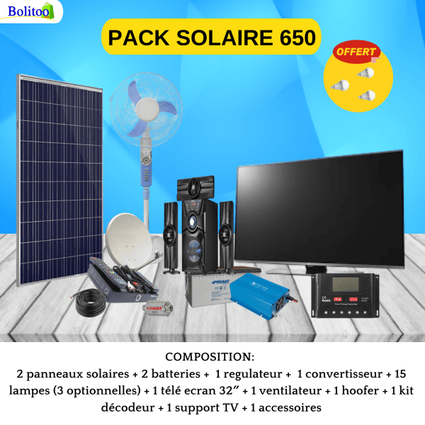 PACK SOLAIRE 650