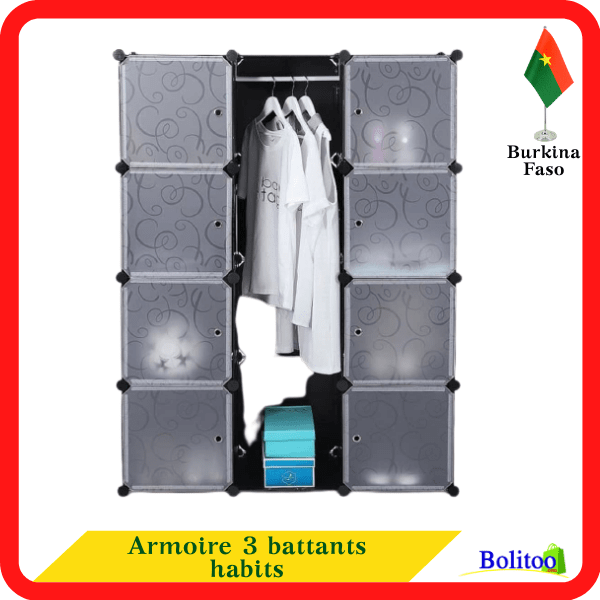 Armoire 3 battants habits