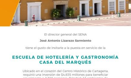Inauguración de la Escuela de Hotelería y Gastronomia Casa del Marqués