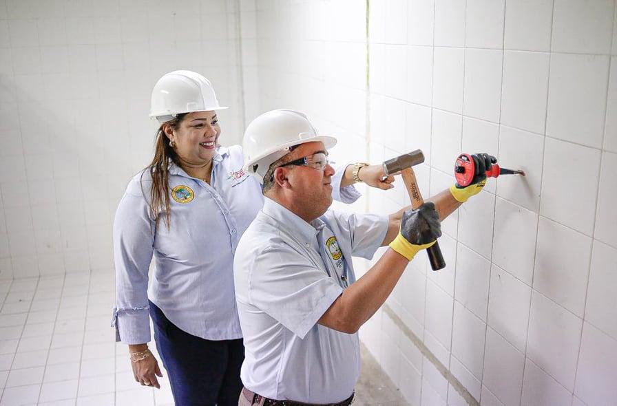EL IDER Y LA ALCALDÍA DE CARTAGENA DAN INICIO A LAS ADECUACIONES EN EL GIMNASIO CHICO DE HIERRO