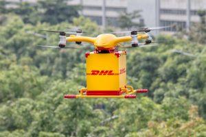 DHL Express lanza su primer servicio de reparto regular urbano plenamente automatizado con drones inteligentes