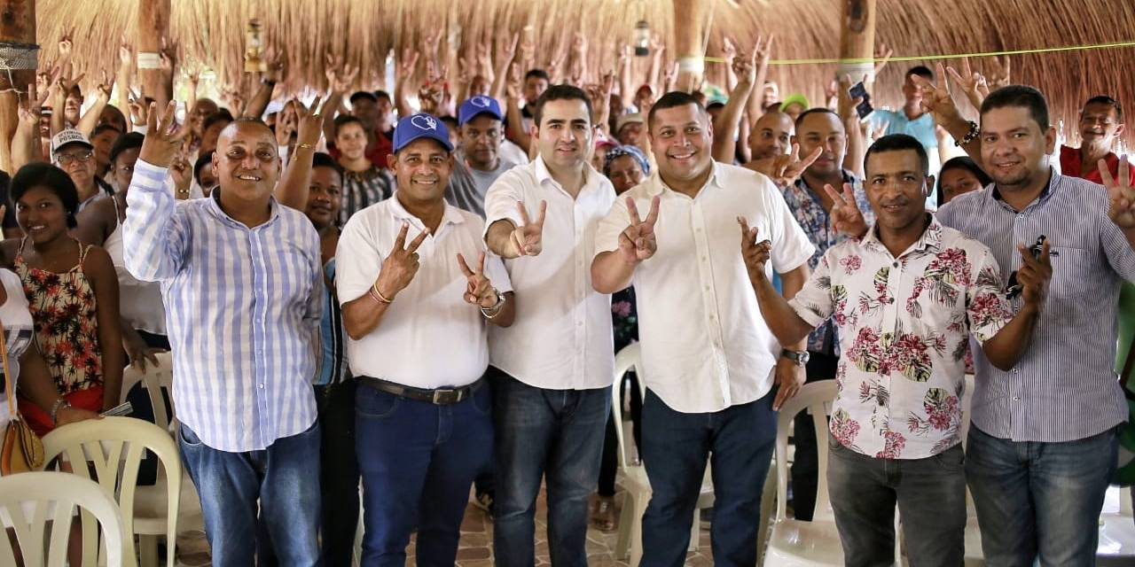 Masivo respaldo ciudadano recibe Vicente en Santa Rosa, Clemencia y Santa Catalina