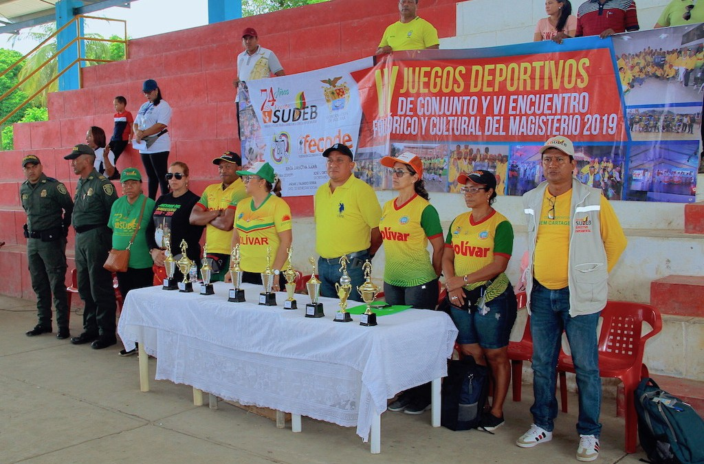 Mojana bolivarense definió sus representantes en los juegos deportivos y encuentro cultural del magisterio 2019