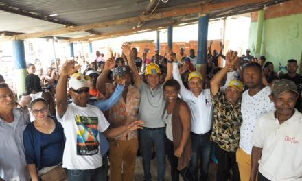 Arroyo de Piedra, Arroyo de las Canoas y Arroyo Grande se unieron al cambio con Fernando Araújo