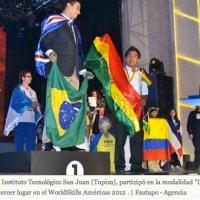 Two medals for Bolivians Jose Huallpa and Miguel Martinez in the WorldSkills Americas