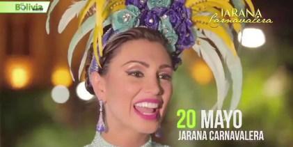 Pamela Justiniano Reina del Carnaval de Santa Cruz 2017, Invita a la Jarana Carnavalera