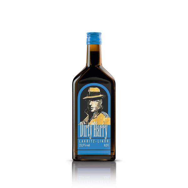 Dirty Harry, Lakritz-Likör, 0,5L Flasche 21,5%vol.