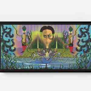 Daman Third Kingdom Long Horizontal Matte Framed Canvas Wall Art