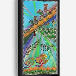Danger In the Forest Long Vertical Matte Framed Canvas Wall Art