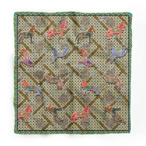 Horse Pattern Square Scarf
