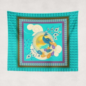 Summer Peacock Tapestry