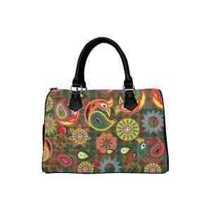 Orange Peacock Handbag
