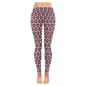 Hearts Colored Low Rise Leggings