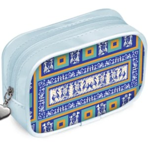Blue and Gold Pouch Purse