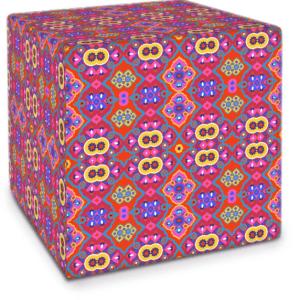 Flower Opal Cross Pink Cube