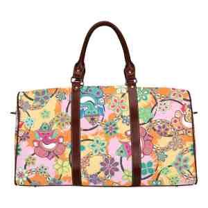 Ganesh Print Blue and Pink Travel Bag