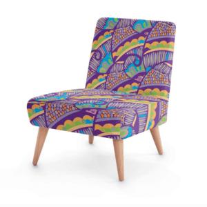 Henna Flower Occasional Chair