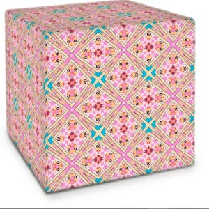 Lotus Flower Geo Pink Cube