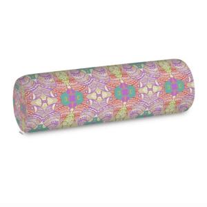 Purple Pastel Wire Henna Bolster Cushion
