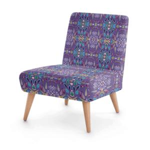 Sword Leaf Purple Occasional Chair