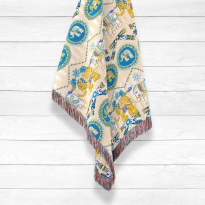 Cutie Elephant on Circus Roll Woven Throws