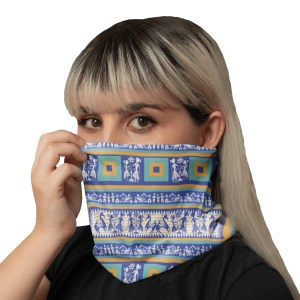 Blue and Gold Neck Gaiter