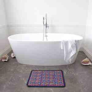 Henna Flower Bath Mat