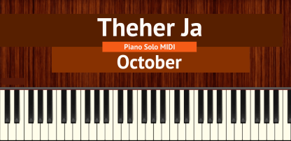 Theher Ja Piano Solo MIDI