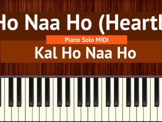 Kal Ho Naa Ho (Heartbeat) Piano Solo MIDI