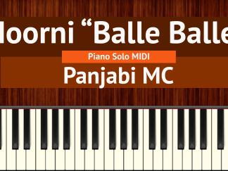 Moorni Balle Balle Piano Solo MIDI